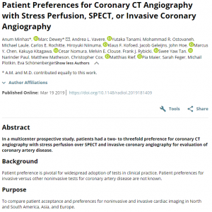 Patient Preferences for Coronary CT - screenshot from https://pubs.rsna.org/doi/full/10.1148/radiol.2019181409