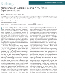 Preferences in cardiac testing - Screenshot from https://pubs.rsna.org/doi/10.1148/radiol.2019190309