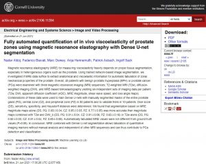 Fully automated quantification of in vivo viscoelasticity of prostate zones using magnetic resonance elastography with Dense U-net segmentation
