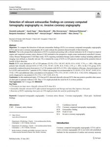 Detection of relevant extracardiac findings on coronary computed tomography angiography vs. invasive coronary angiography